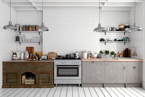 Food「Empty classic kitchen」:スマホ壁紙(11)
