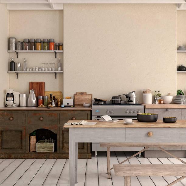 Empty classic kitchen:スマホ壁紙(壁紙.com)
