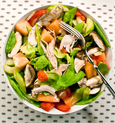 Chicken Salad「Pulled roasted chicken, vegetable and fruit salad with honey mustard」:スマホ壁紙(19)