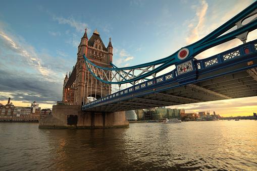 London Bridge - England「Tower bridge at sunset, London, England, UK」:スマホ壁紙(14)