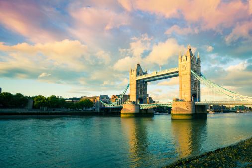 London Bridge - England「Tower Bridge at Sunset, London Landmark」:スマホ壁紙(6)