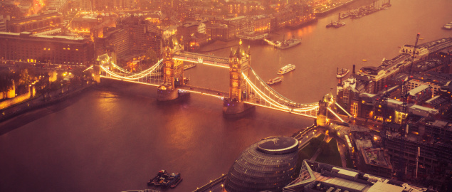 London Bridge - England「Tower Bridge and river thames aerial view」:スマホ壁紙(7)