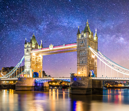 Milky Way「tower bridge london londres at dusk england milkyway」:スマホ壁紙(5)