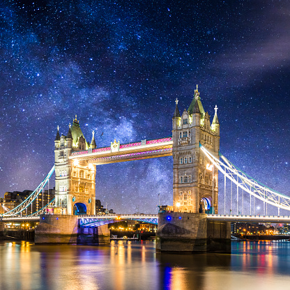 Milky Way「tower bridge london londres at dusk england milkyway」:スマホ壁紙(0)