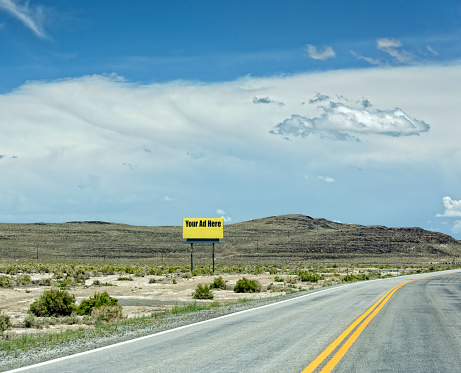 Double Yellow Line「Billboard on a Nevada Highway」:スマホ壁紙(15)