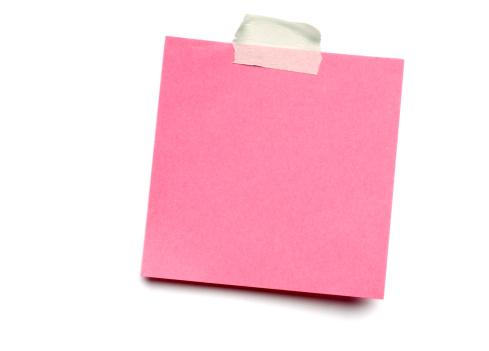 Sending「Pink postit note on white」:スマホ壁紙(18)