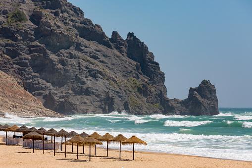 波「Praia da Luz in the Algarve」:スマホ壁紙(11)