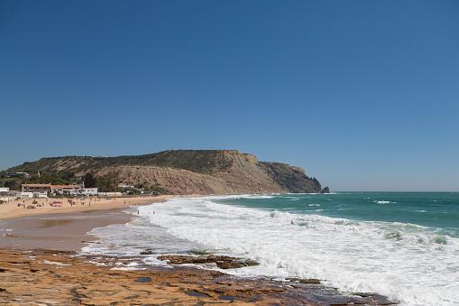 波「Praia da Luz in the Algarve」:スマホ壁紙(5)