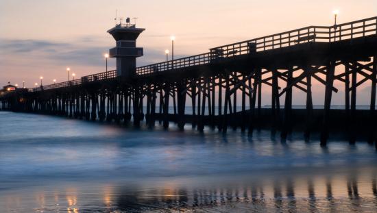 Wooden Post「Seal Beah Pier at sunset」:スマホ壁紙(17)