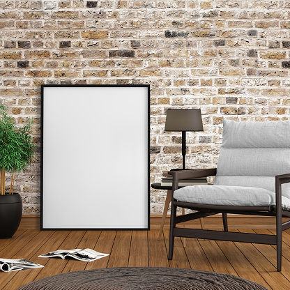 Template「Interior hipster mock up blank picture poster frame template」:スマホ壁紙(11)