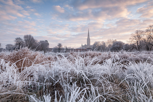 Circa 13th Century「Salisbury cathedral at dawn in Salisbury」:スマホ壁紙(15)