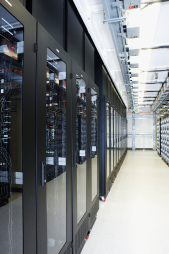 Polling Place「A row of server racks in a server room.」:スマホ壁紙(8)