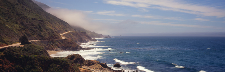 Big Sur「Road carved into cliffs along coastline」:スマホ壁紙(8)