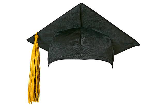 Graduation cap (isolated on white):スマホ壁紙(壁紙.com)