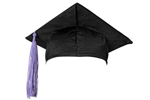 卒業「卒業式キャップ(白)」:スマホ壁紙(6)