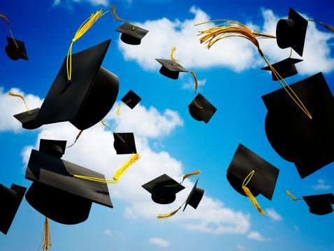 卒業「卒業式キャップでのプレミア空気」:スマホ壁紙(3)