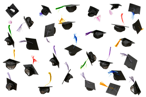 Throwing「Graduation Caps (isolated on white)」:スマホ壁紙(6)