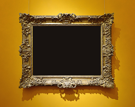 Black Color「Retro Picture Frame」:スマホ壁紙(6)