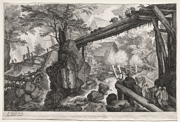 Dramatic Landscape「Eight Bohemian Landscapes: Landscape With Log Bridge Over Cataract」:写真・画像(17)[壁紙.com]
