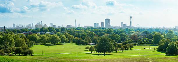 London Skyline and Primrose hill park panorama:スマホ壁紙(壁紙.com)