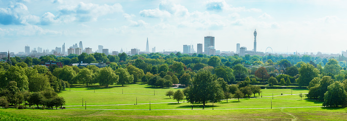 English Culture「London Skyline and Primrose hill park panorama」:スマホ壁紙(2)