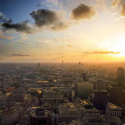 Town Square「London skyline sunset, England, UK」:スマホ壁紙(12)