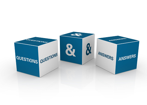 Asking「Three blue and white question and answer cubes」:スマホ壁紙(8)
