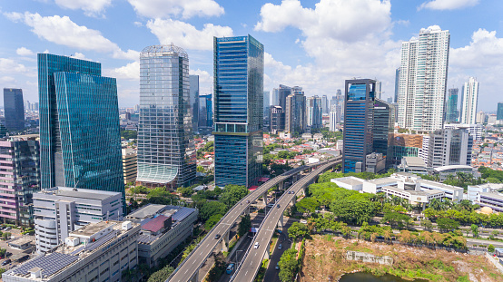 Java「Modern Jakarta and its new highway, aerial view」:スマホ壁紙(5)