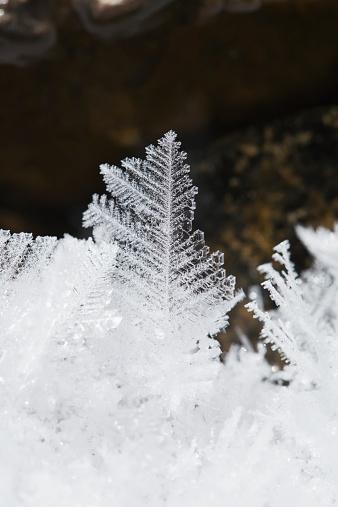 氷晶「Close up detail of ice crystals」:スマホ壁紙(16)