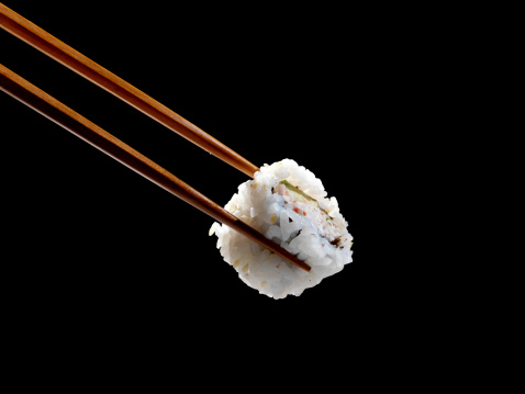 Asian Food「Sushi in Chopsticks」:スマホ壁紙(3)