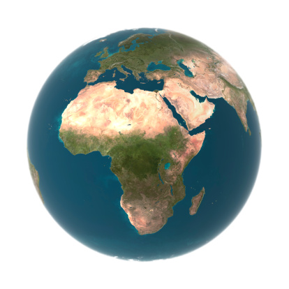 Digital Composite「Globe with Africa prominent (Digital)」:スマホ壁紙(4)