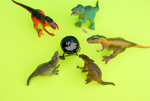 Party - Social Event「Fun Colourful Toy Dinosaurs Conceptual Scene - BBQ Meat Eaters」:スマホ壁紙(8)