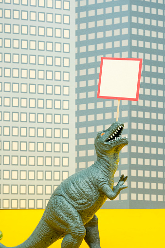 Protestor「Fun Colourful Toy Dinosaurs Conceptual Scene - Picketing」:スマホ壁紙(17)