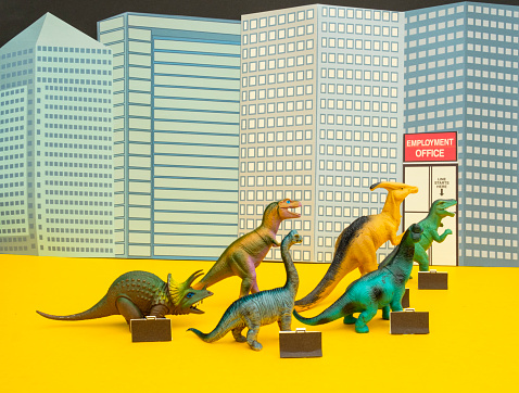Cartoon「Fun Colourful Toy Dinosaurs Waiting In Line At The Unemployment Office」:スマホ壁紙(10)
