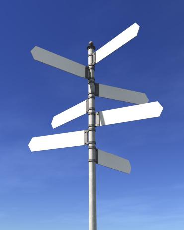 Choosing「Blank signpost」:スマホ壁紙(15)