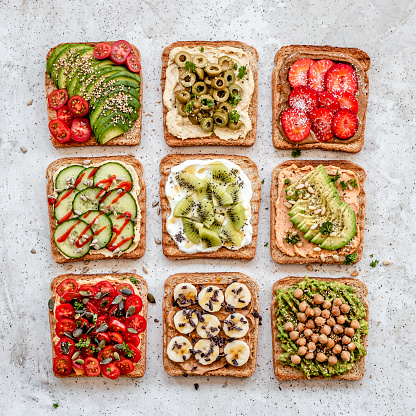 Snack「Arrangement of savory vegan toasts」:スマホ壁紙(3)