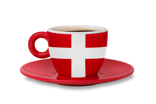 Danish Culture「A Danish flag on an espresso cup」:スマホ壁紙(17)