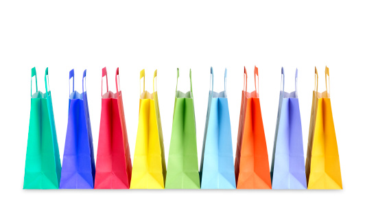 グッディバッグ「Colorful shopping bags」:スマホ壁紙(17)