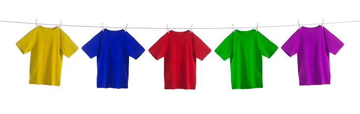 Clothing「Colorful Shirts Hanging on a Clothesline」:スマホ壁紙(17)