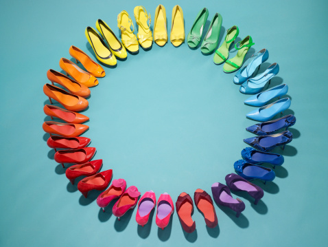 High Heels「Colorful shoes form a color wheel」:スマホ壁紙(8)