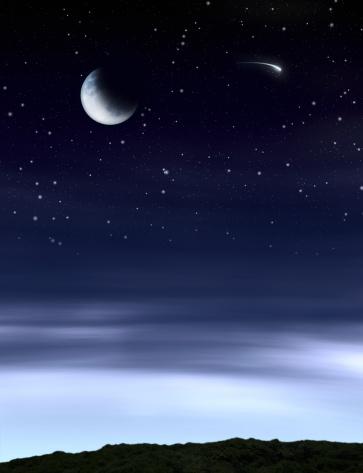 月面「ムーンの夜空」:スマホ壁紙(19)