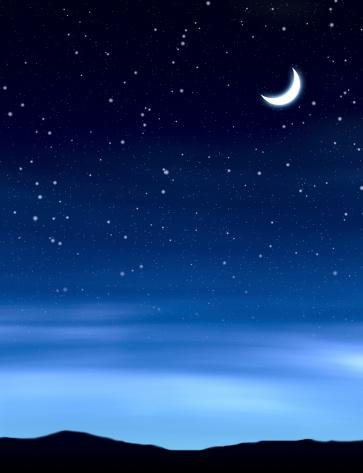 月「ムーンの夜空」:スマホ壁紙(6)