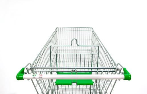 Convenience「Supermarket trolley on white background」:スマホ壁紙(0)