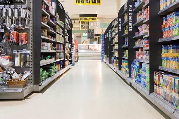 スーパーマーケットの通路:スマホ壁紙(壁紙.com)