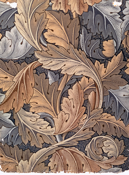 Pattern「Acanthus' Wallpaper Designed By William Morris 1875」:写真・画像(1)[壁紙.com]