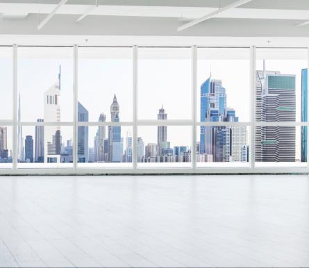 ガラス「オフィスでドバイ」:スマホ壁紙(9)