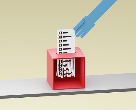 Voting Ballot「Ballot being shreddered inside a ballot box」:スマホ壁紙(8)