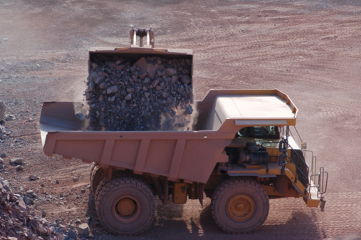 Basalt「Open-pit Mine with Earth Mover and Dump Truck」:スマホ壁紙(4)