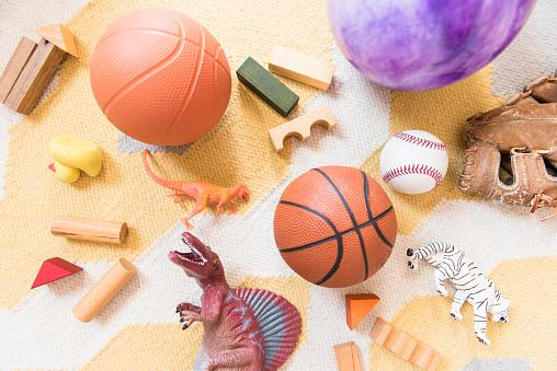 Dinosaur「Sports and animals toys」:スマホ壁紙(15)