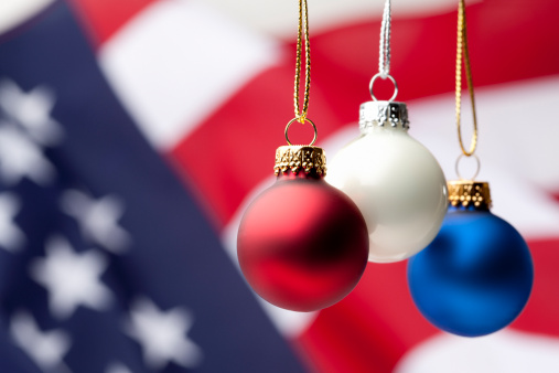Patriotism「Patriotic Christmas Ornaments and USA Flag」:スマホ壁紙(19)